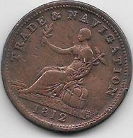 Grande Bretagne - Half Penny - 1812 - 1662-1816 : Anciennes Frappes Fin XVII° - Début XIX° S.