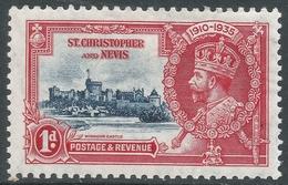 St Kitts-Nevis. 1935 KGV Silver Jubilee. 1d MH. SG 61 - St.Christopher-Nevis-Anguilla (...-1980)