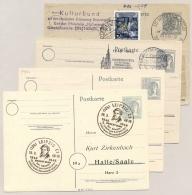 Alliierte Besetzung - 1947 - 4x Postkarte 12 Pf Kontrollratsausgabe - Amerikaanse, Britse-en Russische Zone