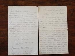 PAD. 286. Lettre De 4 Pages Envoyée à Basècles Parle De Bombes Lancés Sur Le Terrain D'aviation De Wambrechies En 1944 - 1939-45
