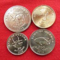 Uganda Set 4 — 50 100 200 500 Shilling 2015 Ouganda UNC - Ouganda