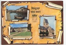 Isigny Sur Mer Multivues Parchemin Port Hotel De Ville église (n°2221) - France