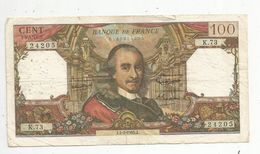 Billet , 100 Francs , CORNEILLE , 4-2-1965 , 2 Scans - 1962-1997 ''Francs''