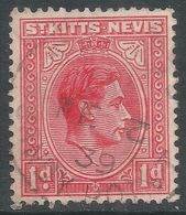 St Kitts-Nevis. 1938-50 KGVI. 1d Used. SG 69a - St.Christopher-Nevis-Anguilla (...-1980)