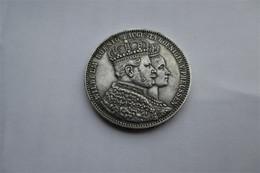 Prussia, 1 Thaler, 1861 Coronation Of Wilhelm And Augusta - Taler & Doppeltaler