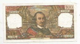 Billet , 100 Francs , CORNEILLE , 5-9-1968 , 2 Scans - 1962-1997 ''Francs''