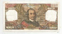 Billet , 100 Francs , CORNEILLE , 1-9-1966 , 2 Scans - 1962-1997 ''Francs''