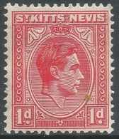 St Kitts-Nevis. 1938-50 KGVI. 1d MH. SG 69a - St.Christopher-Nevis-Anguilla (...-1980)