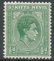 St Kitts-Nevis. 1938-50 KGVI. ½d MH. SG 68a - St.Christopher-Nevis-Anguilla (...-1980)