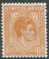 St Kitts-Nevis. 1938-50 KGVI. 1½d MH. SG 70 - St.Christopher-Nevis-Anguilla (...-1980)