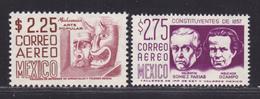 MEXIQUE AERIENS N°  228 & 229 ** MNH Neufs Sans Charnière, TB (D5965) Masques, Gomez-Farias Et Ocampo - Mexico