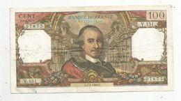 Billet , 100 Francs , CORNEILLE , 7-4-1966 , 2 Scans - 1962-1997 ''Francs''
