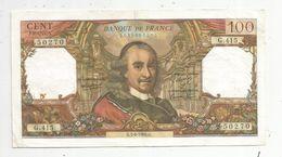 Billet , 100 Francs , CORNEILLE , 5-6-1969 , 2 Scans - 1962-1997 ''Francs''