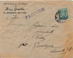 Lettre Sage 5c ST Hippolyte Du Fort Gard - Poststempel (Briefe)
