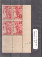 France 1 1938 Coins Datés N° 401 * - Ecken (Datum)