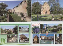 Muret, 4 Cartes, Chapelle St Marcet, ,remparts, Niel, Adze,pigeonnier, Four Gallo-romain, Fontaine, Halle, Colombages - Muret