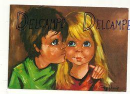 """Big Eyes. Deux Enfants. Signée Stephanie. 1976. """"Doux Instants"""" - Illustrateurs & Photographes"""