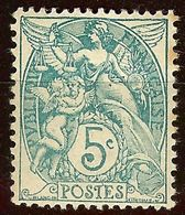 TIMBRE TYPE BLANC N°111a 5c Vert (IIB) NEUF Avec GOMME* Cote 77 Euro - France
