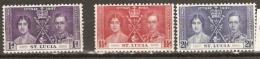 St  Lucia   1937    SG 125,7 Coronation Mounted Mint - St.Lucia (1979-...)