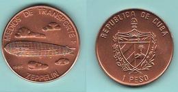 Cuba Un Peso 1988  Zeppelin Dirigibili Airships Dirigeables - Cuba