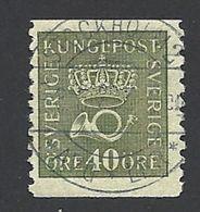 Schweden, 1920, Michel-Nr. 132 W A II, Gestempelt - Schweden