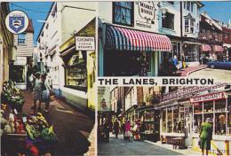 Postcard - The Lanes, Brighton - 3 Views - Card No. ET. 4759 - VG - Unclassified