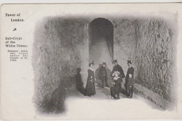 Postcard - Tower Of London - Sub-Crypt Of The White Tower - VG - Unclassified