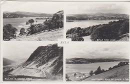 Postcard - The Lake And Pass, Bala, Wales - 4 Views - VG - Unclassified