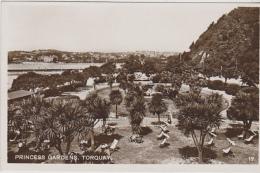 Postcard - Princess Gardens, Torquay - VG - Unclassified