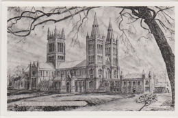 Postcard - Glastonbury Abbey, Somerset - Reconstructed - VG - Unclassified