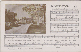 Postcard - Duckworth - Rimington With Music And Words - VG - Unclassified