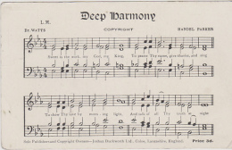 Postcard - Duckworth -Deep Harmony With Music And Words - VG - Unclassified
