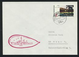 """B-121, Berlin, Marine-Bordstempel, Kleiner Hafenschlepper """"Blauort"""" (Y-803); MiNr. 425 - Briefe U. Dokumente"""