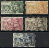 Espagne (1951) PA N 250 A 254 (Luxe) - 1931-Aujourd'hui: II. République - ....Juan Carlos I
