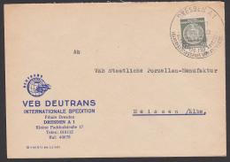 DRESDEN A1 Dienstpost Jugendweihe Bekenntnis Für Frieden Völkerfreundschaft ... 1958 DEUTRANS - DDR