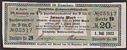 Sächsische Bodencreditanstalt Zinsschein 1923 Serie 9, Hypothekenpfandbrief - Banknoten