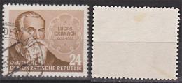 Lucas Cranach D. Ältere (1472 - 1553)  Maler 24 Pfg. Gest.  Germany East DDR 384 Bedarfsgestempelt, - Oblitérés