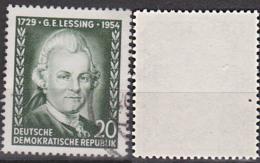 Lessing, Gotthold Ephraim Bedarfsgestempelt Germany East DDR 423 - Usati