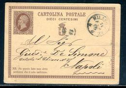 Italie - Entier Postal De Milano Pour Napoli En 1875 - Ref M3 - 1861-78 Victor Emmanuel II.