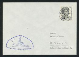 """B-125, Berlin, Marine-Bordstempel, Hafenschlepper """"Neuende""""; MiNr. 422 - Briefe U. Dokumente"""