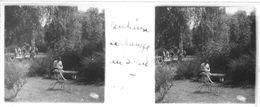 PP 18 - JEUX OLYMPIQUES DE MUNICH 1936 Village Olympique Henri DULIEUX Se Réchauuffe Au Soleil - Glass Slides