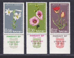 ISRAEL N°  234 à 236 ** MNH Neufs Sans Charnière, TB (D5968) Fleurs, Anniversaire De L'état - Israël