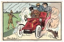 Illustrateur André GALLAND - 4 - CHASSEUR Tirant Sur Une AUTOMOBILE - CHASSE - CHIEN - HUNTING - HUNTER - DOG - CAR - Altre Illustrazioni