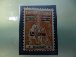 MACAU - TIPO CERES (1931-33) STARS TYPE III - III AND CLICHE CCLII  MM - Chine
