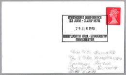 METHODIST CONFERENCE - Conferencia Metodista. Manchester 1970 - Cristianismo
