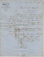 75 A27 PARIS SEINE 1859 Ancienne Maison RAYNAUD MOOS Successeur De LEGUAY Rue Croix Des Petits Champs A  BAFFET Limoges - Francia