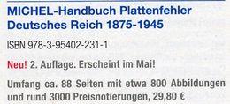 MlCHEL Deutsche Reich 1875-1945 Plattenfehler 2018 Neu 30€ D Kaiserreich DR 3.Reich Error Special Catalogue Germany - Manuali