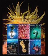 PALAU,2013,MNH, MARINE LIFE VI, FISH,JELLYFISH,LIONFISH,STARFISH, SUPERB PHOTOS, SHEETLET, NICE! - Poissons