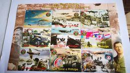 Bloc 60em Anniversaire Du Débarquement + Degaulle+avion+soldat - WW2