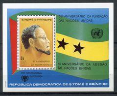 Sao Tome E Principe, St. Thomas And Prince, 1981, United Nations, International Year Of The Child, IYC, MNH, Block 53A - Sao Tome Et Principe